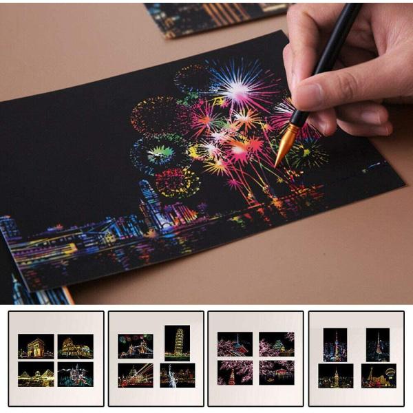 Set 12 Picturi Razuibile kit Premium Cadou Onuvio™
